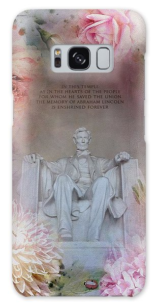 Lincoln Memorial Galaxy S8 Case - Abraham Lincoln Memorial At Spring by Marianna Mills