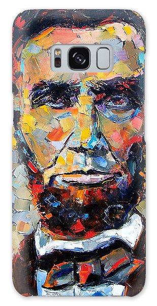 Impressionist Galaxy Case - Abraham Lincoln Portrait by Debra Hurd
