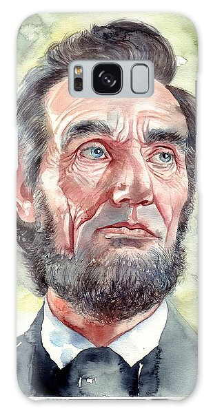 Abraham Lincoln Galaxy Case - Abraham Lincoln Portrait by Suzann's Art