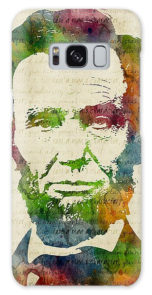 Abraham Lincoln Watercolor Galaxy Case