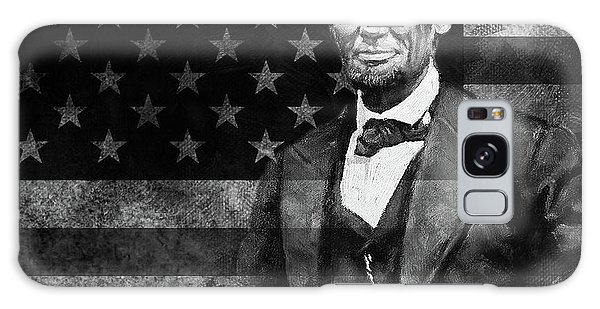 Abraham Lincoln With American Flag  Galaxy Case by Gull G