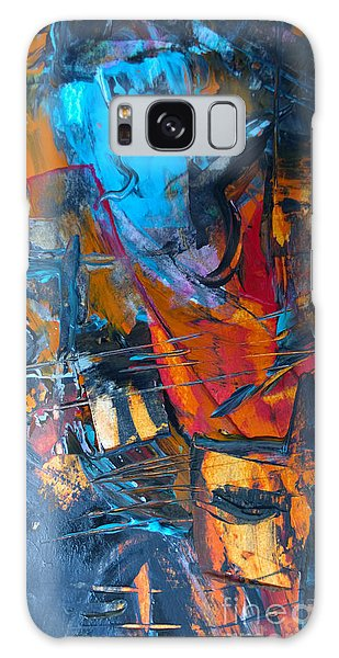Galaxy Case featuring the painting Abstract #42715b by Robert Anderson
