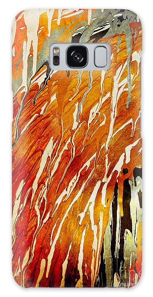 Galaxy Case featuring the painting Abstract A162916 by Mas Art Studio