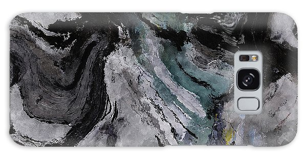 Abstract And Minimalist Acryling Painting In Gray Color Galaxy Case by Ayse Deniz