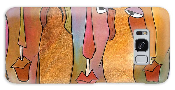 Abstract Art Original Painting - Mad Men Galaxy Case