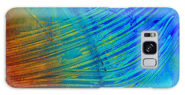 Abstract Art  Painting Freefall By Ann Powell Galaxy Case