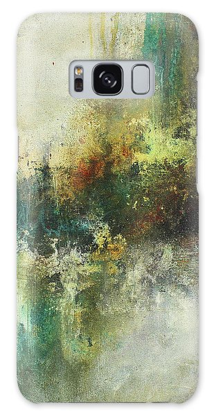 Abstract Art With Blue Green And Warm Tones Galaxy Case