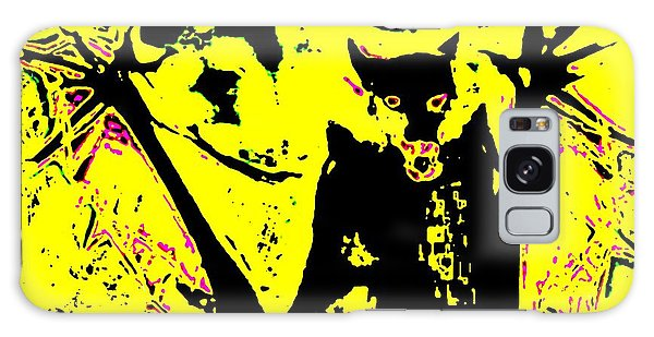 Black On Yellow Dog-man Galaxy Case
