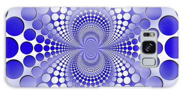 Galaxy Case - Abstract Blue And White Pattern by Vladimir Sergeev