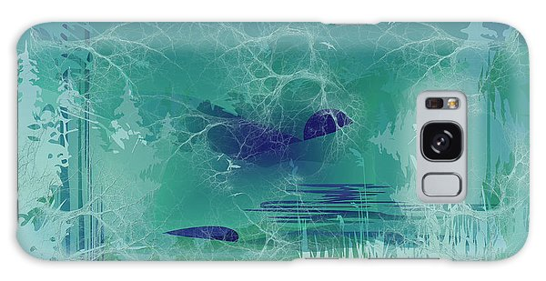 Galaxy Case featuring the digital art Abstract Blue Green by Robert G Kernodle