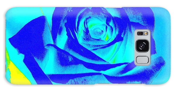 Single Blue Rose Abstract Galaxy Case