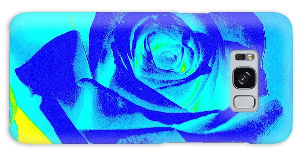 Abstract Blue Rose Galaxy Case