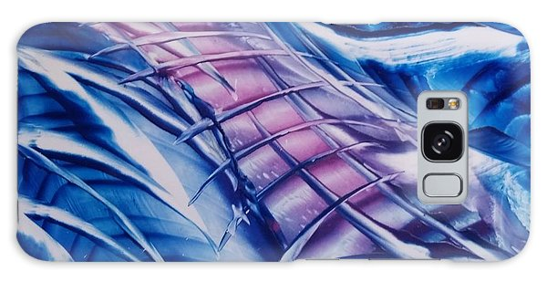 Abstract Blue With Pink Centre Galaxy Case