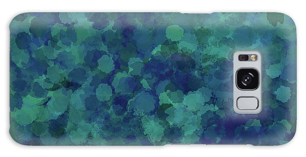 Galaxy Case featuring the mixed media Abstract Blues 1 by Clare Bambers