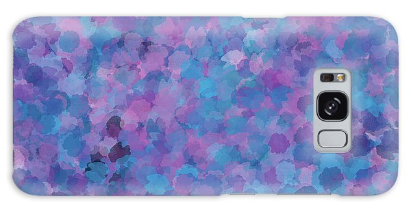 Galaxy Case featuring the mixed media Abstract Blues Pinks Purples 3 by Clare Bambers