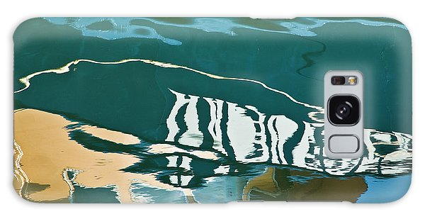 Galaxy Case featuring the photograph Abstract Boat Reflection by Dave Gordon
