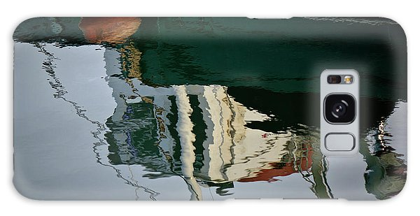 Abstract Boat Reflection II Galaxy Case