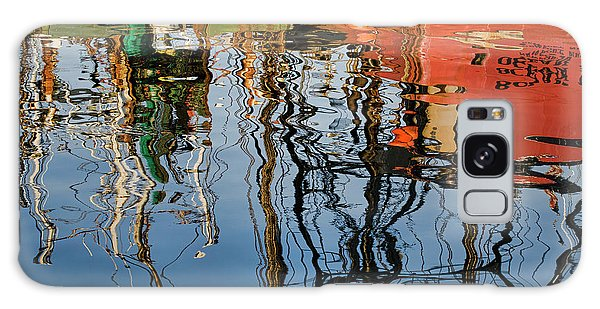Abstract Boat Reflections Iv Galaxy Case