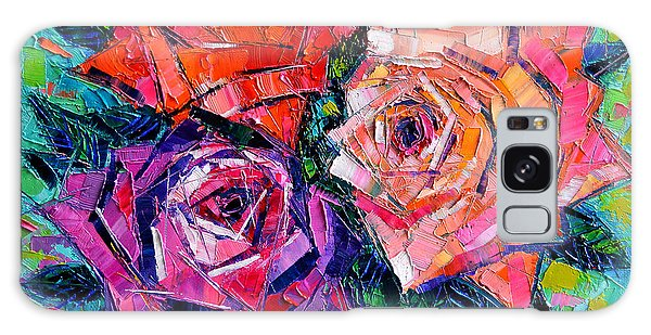 Abstract Bouquet Of Roses Galaxy Case