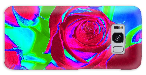 Burgundy Rose Abstract Galaxy Case