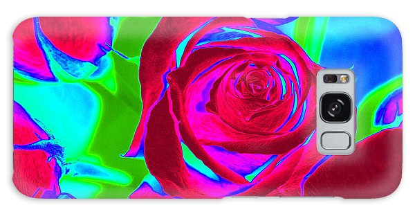 Abstract Burgundy Roses Galaxy Case by Karen J Shine