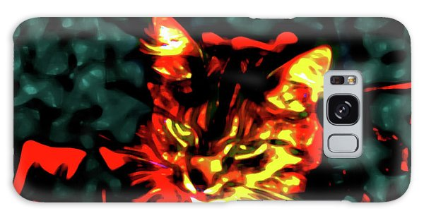 Abstract Cat Galaxy Case
