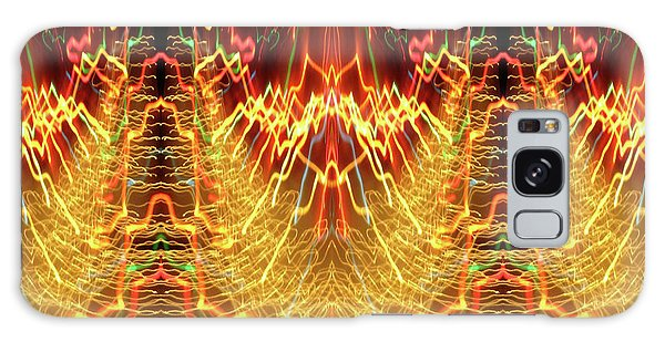 Abstract Christmas Lights #175 Galaxy Case