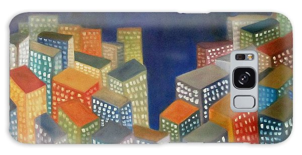 Abstract Cityscape Series Galaxy Case by Patricia Cleasby