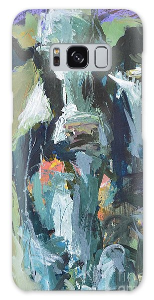 Abstract Cow Painting Galaxy Case