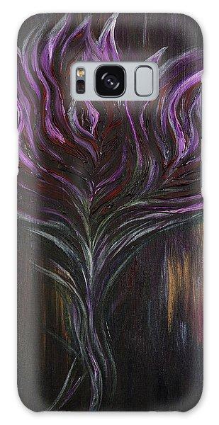 Abstract Dark Rose Galaxy Case