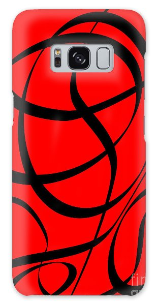 Abstract Design In Red And Black Galaxy Case