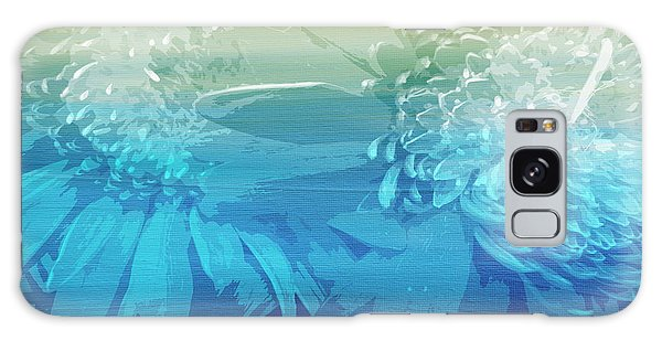 Galaxy Case featuring the painting Abstract Floral Dl212016 by Mas Art Studio