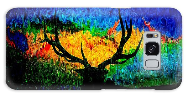 Abstract Elk Scenic View Galaxy Case