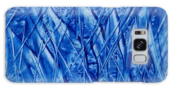 Abstract Encaustic Blues Galaxy Case