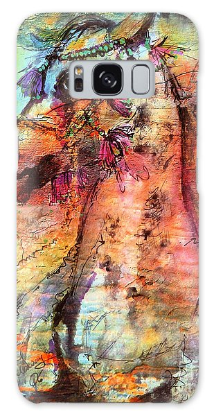 Abstract Expressive Arabian Stallion Art Galaxy Case by Ginette Callaway