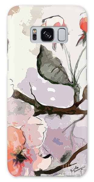 Abstract Floral Art Pink Blossoms 2 Galaxy Case