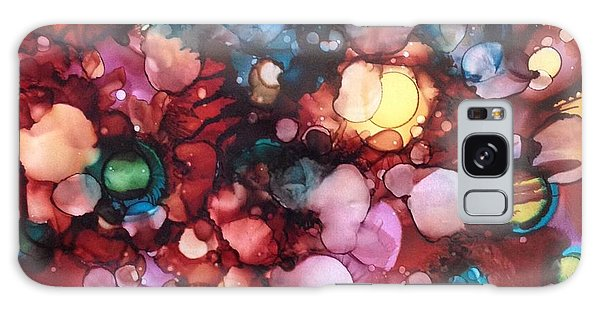 Abstract Floral Galaxy Case