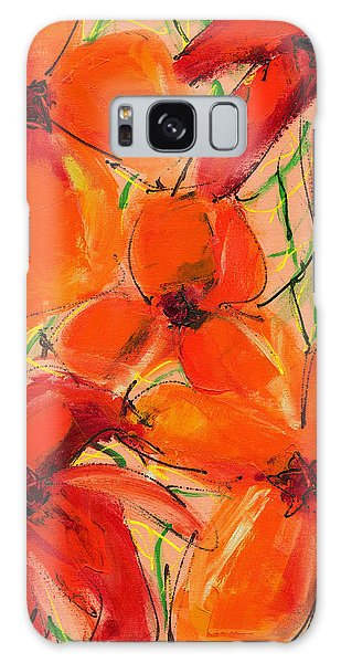 Abstract Floral Two Galaxy Case
