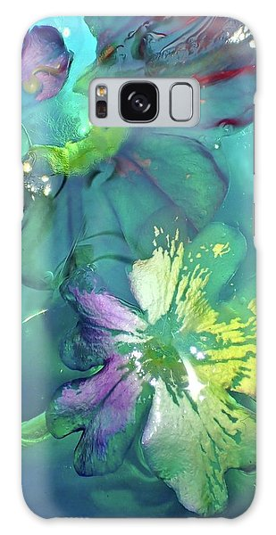 Abstract Flower 2 Galaxy Case