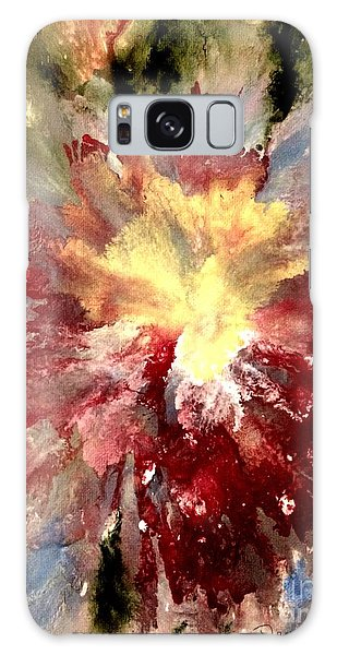 Galaxy Case featuring the painting Abstract Flower by Denise Tomasura