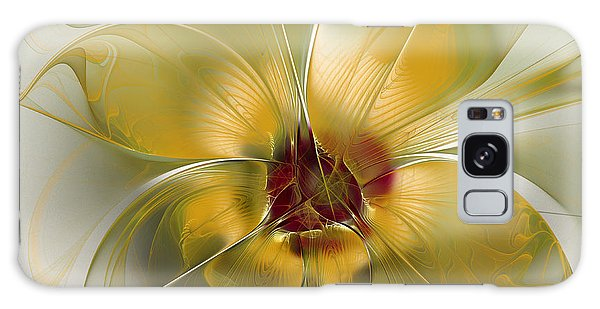 Abstract Flower With Silky Elegance Galaxy Case