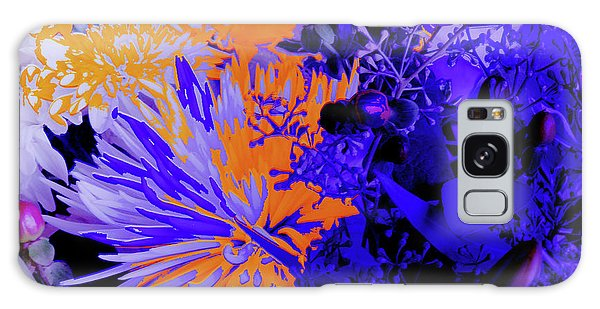 Abstract Flowers Of Light Series #1 Galaxy Case
