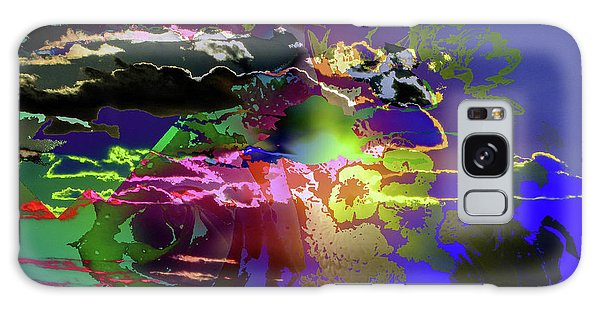Abstract Flowers Of Light Series #11 Galaxy Case