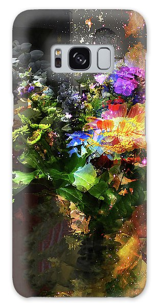 Abstract Flowers Of Light Series #17 Galaxy Case