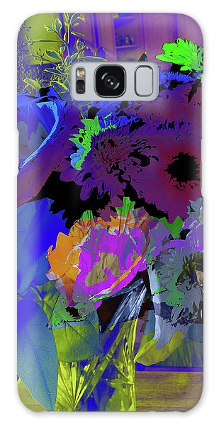 Abstract Flowers Of Light Series #18 Galaxy Case