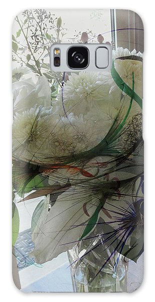 Abstract Flowers Of Light Series #3 Galaxy Case