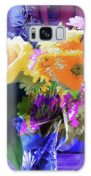 Abstract Flowers Of Light Series #7 Galaxy Case