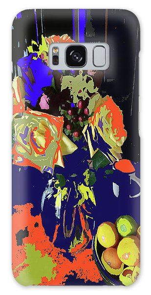 Abstract Flowers Of Light Series #8 Galaxy Case
