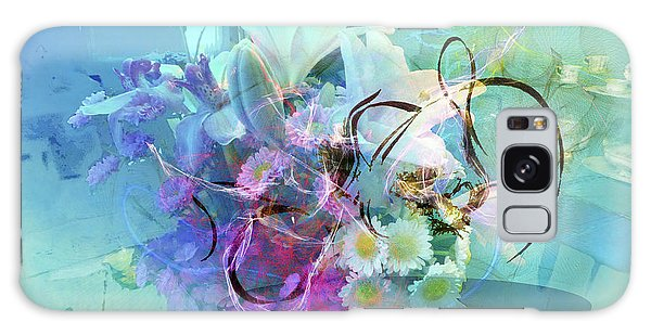 Abstract Flowers Of Light Series #9 Galaxy Case