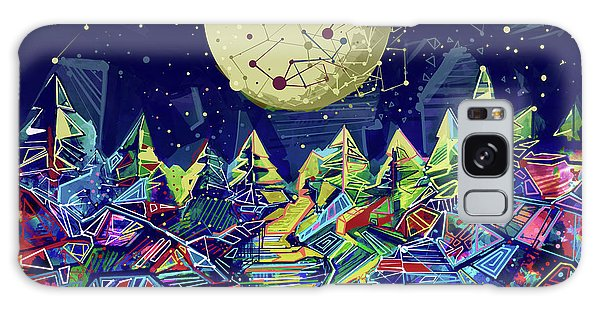 Galaxy Galaxy Case - Abstract Forest by Bekim M
